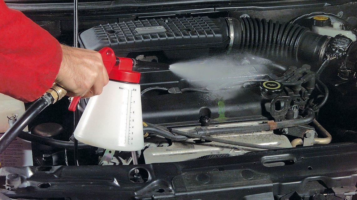 Equipos para lavar motores de vehículos